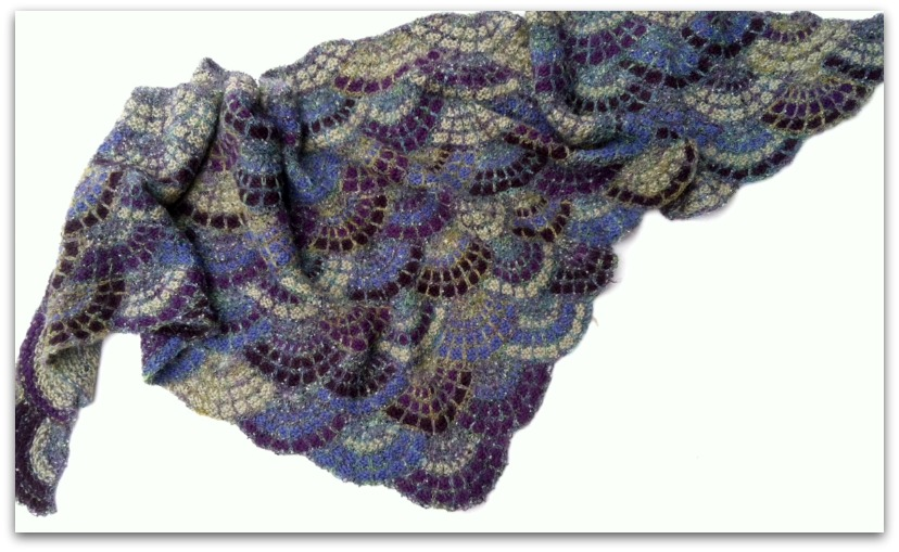 Knitting Patterns Shell Lace : Knitting Basket